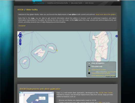 Socib glider web client application