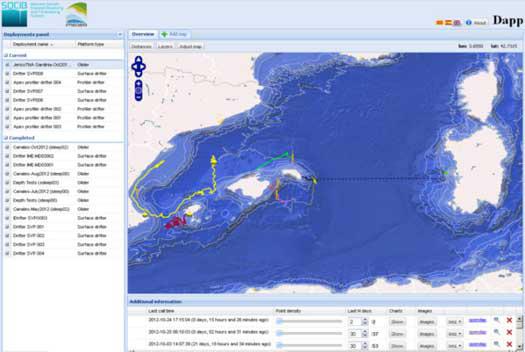 Socib dapp tracking application