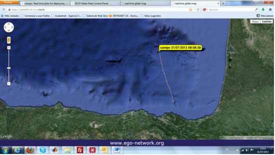 Figure 2. Caption of the EGO-network webpage.