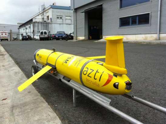 Figure 1. CAMPE glider at AZTI-Tecnalia research centre in Pasaia (Spain)