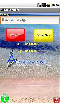 Screenshot of the Argo Sentinel App