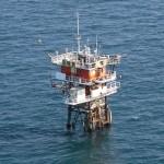 The Acqua Alta Oceanographic Tower of CNR ISMAR (photo credits: Polizia di Stato)