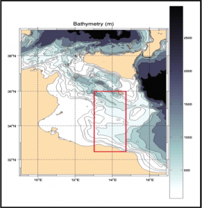 Figure 1- Area of investigation in the Southern Sicily Channel