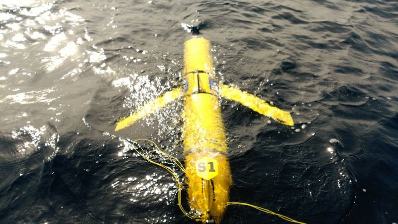 """ SLOCUM DEEP S1"" SOCIB glider facility deployed in the waters of Palma de Mallorca Image credit: SOCIB GLIDER TEAM"