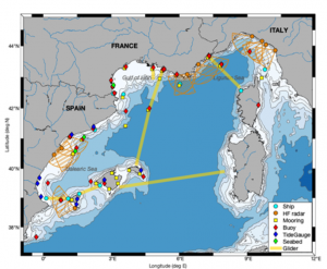 Map showing the key NW-MED PSS sustained platforms and existing stations